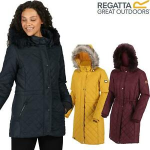 Regatta Womens Zella Insulated Quilted Fur Trim Hooded Jacket