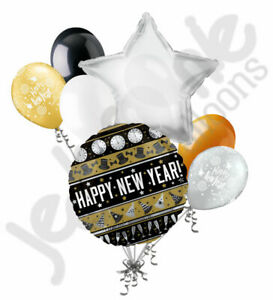 7 pc Bring in the Happy New Year Balloon Bouquet Party Decoration Eve 2020