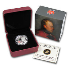 2012 1/4 oz Silver Canadian $4 Heroes of 1812 Coin - Sir Isaac Brock