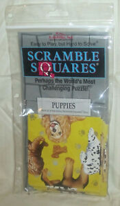 Vintage 1996 B.Dazzle Scramble Squares Puppies 9 Pc Challenging Puzzle New Gift