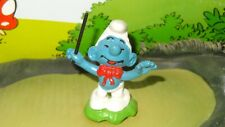 Smurfs Band Leader Smurf Orchestra Conductor 20061 Rare Vintage Display Figurine