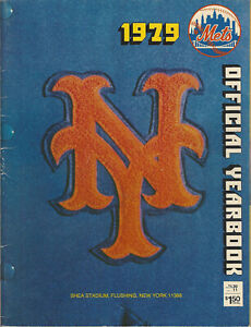 1979 New York Mets Official Yearbook Team Picture Willie Mays Photo Fold Out
