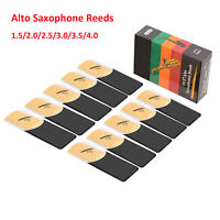 Alto Saxophone Reeds 10-Pack Paper Case Strength 1.5, 2.0, 2.5, 3.0, 3.5, 4.0
