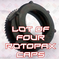 Lot of 4 RotopaX Only Fuel Screw Caps and Ratchet Rings Replacement Jerry Can