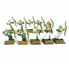 WARHAMMER FANTASY ARMY HIGH ELVES ARCHERS X10 PAINTED AND BASED