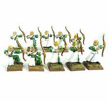 Warhammer Fantasy elfos arqueros X10 de alta del ejército pintado y basado