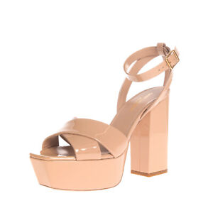 RRP €750 SAINT LAURENT Leather Ankle Strap Sandals EU 38 UK 5 US 8 Made in Italy