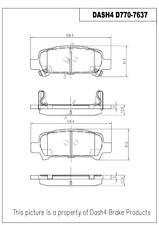 Disc Brake Pad Set-Disc Rear Dash 4 Brake CD770