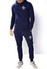 New Mens Beck & Hersey Tracksuit  Top Track Pants Joggers Dress Blue Size M