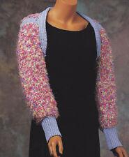 Crochet Pattern ~ LADIES CHARMING SHOULDER SHRUG ~ Instructions
