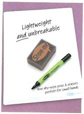 Show Me A4 Drywipe Whiteboard. . FREE Drywipe Pen & Mini Foam Eraser. Pack of 10