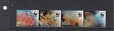 Niue 2012 MNH Giant Sea Fan 4v Se-tenant Set WWF Annella Mollis