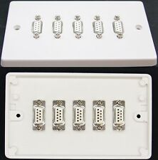 Av Pared / Placa De Cara, 2g, 5 X Serial Rs232 Db9 9-way sockets (hembra) Para Soldadura