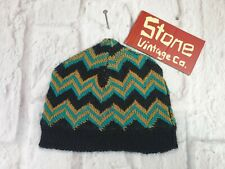 d9c513775b62f Levis Made   Crafted Zig Zag Black Green Gold Brown Wool Warm Beanie Hat  New £