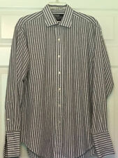 Polo by Ralph Lauren Philip 16 1/2 34 French Cuff Blue & White Stripes