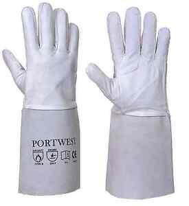 Portwest  A520 Leather Tig Welders Gauntlet Work Gloves Welding Safety Workwear