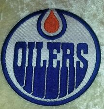 """Edmonton Oilers NHL Logo 3.5"""" Iron On Embroidered Patch ~USA Seller~"""