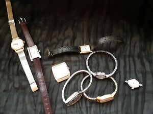 VINTAGE Womens 7 Timex  & 1 Mens Seiko Watch Lot!!