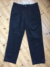 DOCKERS BLACK PLEATED CHINOS - W36 L30 - NEW - MADE IN ITALY
