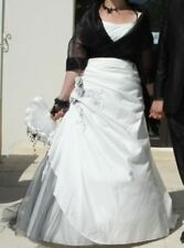 Robe de mariée - 44/46 - Ivoire et noir