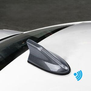 Waterproof Carbon Fiber Car SUV Shark Fin Roof Antenna Radio AM FM Signal Aerial