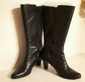 EASY STEPS black leather boots SIZE 7C