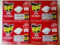 16 Raid Ant Baits House and Yard Child Resistant Traps 4 Boxes Kills The Colony