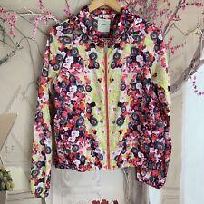 PINKO Tag Woman's Floral Designer Wind Breaker Jacket Size 10