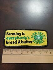 Vintage Farmer Agriculture Patch FARM CREDIT SERVICE
