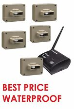 Outdoor 5 Sensor Wireless Motion Alert Alarm Security System Home Patio Driveway