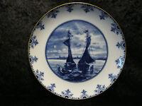 Wallendorf Porcelana Plato - DDR Um 1960-Auténtico Cobalto-27 cm - Hollanddekor