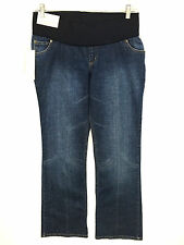 Liz Lange Maternity Jeans Belly Band Dark Wash Womens 2 Actual 29 x 30 NWT