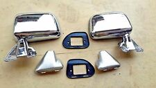 FOR TOYOTA PICKUP HILUX 4RUNNER 2WD 4WD 87-89 CHROME DOOR WING MIRROR SKIN MOUNT