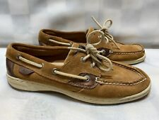 SPERRY Top-Sider Suede Boat Shoes Women's Size 7.5 M Brown 9173790