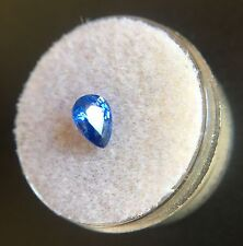 NATURAL Loose Blue Ceylon Sapphire 1.01ct Pear Cut Sri Lanka Gem Diamond 7x5mm