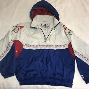 Vintage 90s Olympic team Starter jacket USA flag windbreaker Size Large