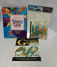 Bundle of 3 Stained Glass Books & Pack Acetate Sheets for Glass Painting - Fab!