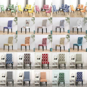 4/6pcs Removable Elastic Chair Covers Sofa Slipcover Kitchen Wedding Party Decor