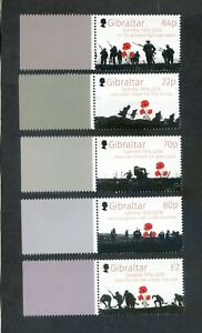GIBRALTAR 2016 BATTLE OF THE SOMME CENTENARY STAMPS MNH