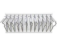 AdirOffice White Pivot Wall Blueprint Plans Document Rack with 12 Hangers