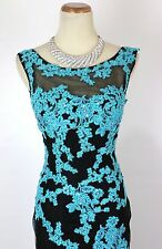 New Authentic Tony Bowls 115543 Black / Turquoise Prom Evening Women Gown 4
