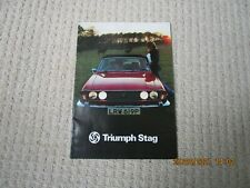 Triumph Stag - 1976 - 1977 - UK Sales  - Very Good Condition