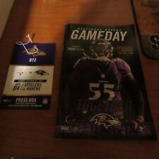 STEELERS VS RAVENS 10/1/17 GAME DAY PROGRAM AND MEDIA PASS