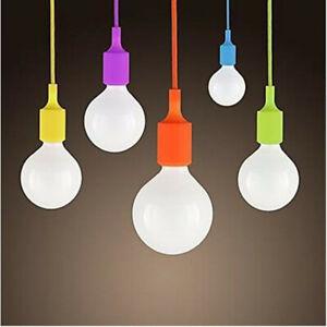 E26/E27 Silicone Ceiling Pendant Lamp Holder Industrial Vintage Light Home Decor