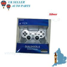 SILVER PS3 wireless DualShock 3 CONTROLLER JOYSTICK GAMEPAD PER PlayStation 3 NUOVO