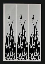"""15 - 6x1"""" Black Flames on White Reflective Arrow Wraps"""