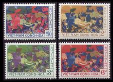 SOUTH VIETNAM 1959 Trung Sisters Fighting Chinese 108-111 Hai Bà Trưng MNH