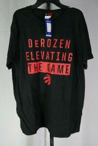 Majestic NBA Toronto Raptors DeRozan Elevating The Game T-Shirt Mens Black L T3