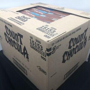 SEALED CASE OF 12!!! Count Chocula General Mills Cereal New In Box Halloween -