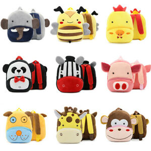 Kids Bag Cartoon Backpack Animal School Bags Children Bag Plush Backpack